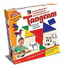 NEW Small World Toys TANGRAM Educational Geometric Puzzle & Pattern Block Game
