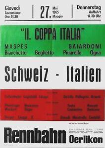 Original vintage poster COPPA ITALIA SWISS CYCLE RACES 1965