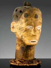 RARE ANTIQUE SOUTHERN USA OUTSIDER FOLK ART CARVED AFRICAN AMERICAN HEAD BUST