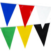 Bunting 6 Colour Flags Blue Red White Green Yellow Black Banner Football Party