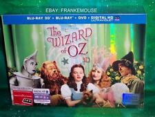 NEW THE WIZARD OF OZ 75TH ANNIVERSARY 3D 2D BLU RAY DVD LIMITED EDITION GIFT SET