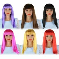 Women's Wig Straight Long Hair Synthetic Cosplay Party Costume For Kids Adults