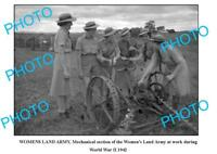 OLD LARGE PHOTO WOMENS LAND ARMY WWII 1942 MECHANICAL SECTION