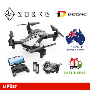 DEERC D20 Mini Drone for Kids with 720P HD FPV Camera Remote Control 2 Batteries