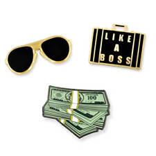 PinMart's Like A Boss Aviators Cash Money Trendy Enamel Lapel Pin Set