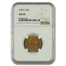1897-S $5 Liberty Gold Half Eagle AU-55 NGC