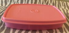 Tupperware Reheatable Microwave Divided Dish w/Lid  Rectangle Pink 5, 6oz New