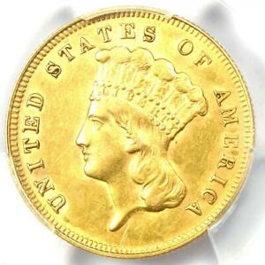 1878 Three Dollar Indian Gold Coin $3 - Certified PCGS AU Details - Rare Coin!