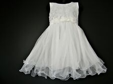 LACE AND NET  PARTY FORMAL FLOWER GIRL  WEDDING PRINCESS DRESS AGE 2-12