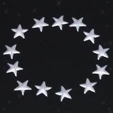 50x Silver Metal Stars Iron On Hot Fix Nailheads HOTFIX for DIY Crafts 7.5mm