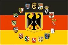 Fahne Flagge Deutschland Adler mit 16 Bundesländer Wappen 90 x 150 cm