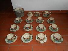 SERVICE A THE OU CAFE EN FAIENCE DE SATSUMA.Début XX°.Vase,tasse,