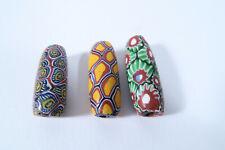 3 Millefiori Glasperlen AS70 Old Venetian African trade beads Murrine Afrozip