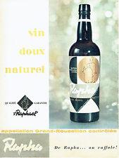 PUBLICITE ADVERTISING 016  1958  Saint Raphael  apéritif Rapha