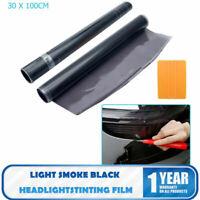 30 x 100cm Light Smoke Headlights Tinting Film Vinyl Car Lights + FREE SQUEEGEE