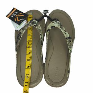 Crocs Mens Swiftwater Wave Flip Flop Camo Sandals sz 9, 10 Water Friendly sandal