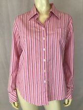 Lilly Pultizer Blouse 10 Womens Pink orange stripe cotton poly spandex stretch