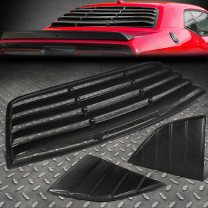 FOR 08-19 DODGE CHALLENGER REAR+QUARTER SIDE WINDOW LOUVER WINDSHIELD SUN SHADE