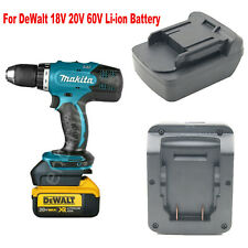 Dewalt 18V/20V(Max) Li-ion Battery to Makita 18V BL1820 Cordless Tools Adapter