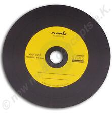 Vinyl CD-R Carbon,10 Stück ,700 MB zum archivieren, Dye schwarz Gelb
