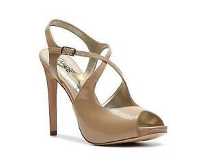 "NEW Women's Carlos Santana ""Charlene"" -WAS $90!- size 10 shiny beige 4.5"" heel"