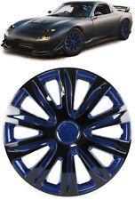 Radkappen Radzierblenden für Stahlfelgen Set Tenzo-R XII 14 Zoll schwarz blau