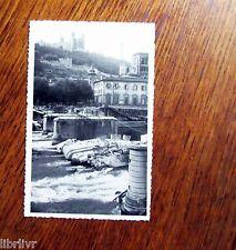 LYON LIBÉRATION 1944 Pont détruit par les allemands Photographie tirage argent