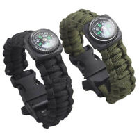 Outdoor Self-rescue Parachute Cord Bracelets Compass Survival Camping Travel