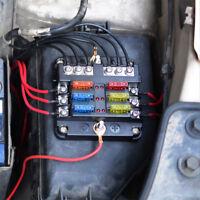 Waterproof 6-Way Car Blade Fuse Box Block Holder LED Indicator 12V Auto Marine