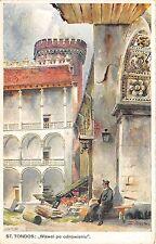 B71984 St Tondos Wawel po odnowieniu paint peintures Poland