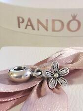 Original Pandora Charm Blumen mit Weiss Zirkonia Ale 925 Silber Wie Neu