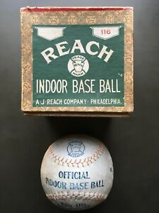 AWESOME 1910/15 Reach Official Indoor Baseball No.116 with box ! VERY RARE