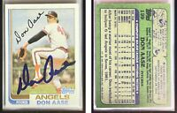 Don Aase Signed 1982 Topps #199 Card California Angels Auto Autograph