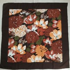 "Burberry Multi-color 100% Silk Floral Scarf  34"" x 34"""
