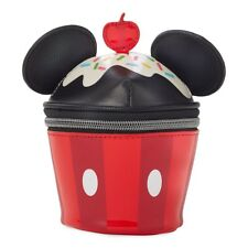 Mickey Mouse Ears Cupcake Shaped Cosmetics Case Makeup Bag Purse Disney Store