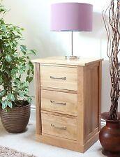 Mobel Solid Oak Furniture 3 Drawer Lamp Bedside Table Cabinet and Pad