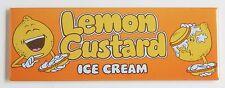 Limone Crema Gelato Calamita Frigo (3.8x11.4cm) Firmare Torta Annuncio