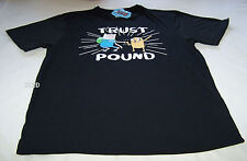 Adventure Time Mens Trust Pound Black Printed T Shirt Size XS New