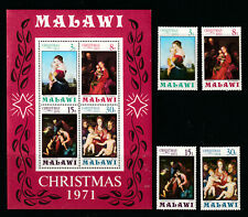 MALAWI 1971 SET, 4 VALUES PLUS M.S.   M.N.H.