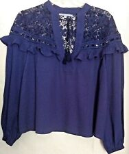 MADISON MARCUS* (M)  Women's Top, Lace Acnt, Raffles Bishop Sleeves, NNT*