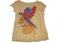 H & M tolles T-Shirt Gr. 134 / 140 gelb mit Papageien Motiv !!