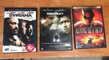 Lot of Three Dvds: Syriana, The Recruit & Chronicles of Riddick
