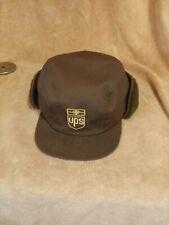 Vintage K Brand UPS Winter Ear Flap Hat Size Small- Medium Cap