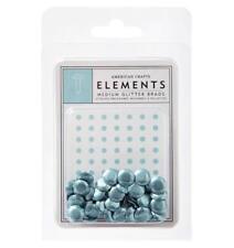 American Crafts Elements POWDER Blue Medium Glitter Brads 8mm 40/pk 85686