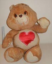 """RARE Giant Care bears BISOUNOURS Plush géant Tenderheart vintage 90 cm 36"""""""