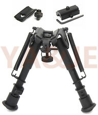 """6""""-9"""" Tactical Bipod Adjustable with Picatinny and Weaver Rail+Mount Adapter"""