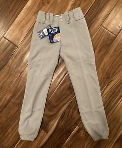 "Mizuno Youth Baseball Pants Gray Size Medium 24""- 26"" Performance Plus Padding"