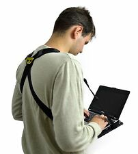 Hands Free iPad Tablet Laptop Holder Harness for Standing or Walking with Desk