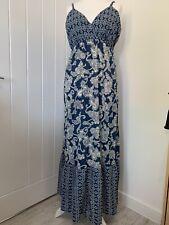 BNWT Seraphine size 18 maternity maxi dress blue & white