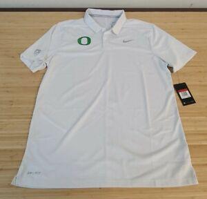 Men's NIKE OREGON Golf Polo Shirt Sz Large White NWT